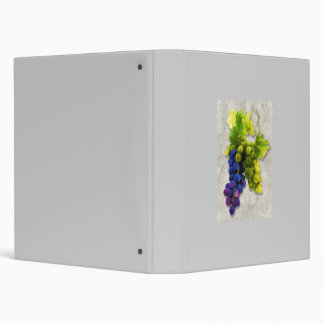 Purple and Green Grapes 3 Ring Binders