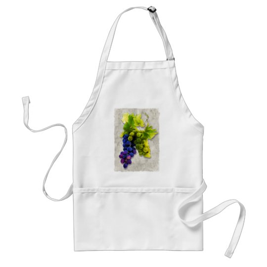 Purple and Green Grapes Adult Apron