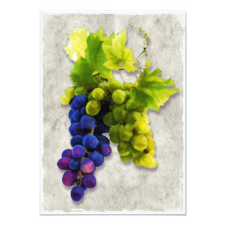 "Purple and Green Grapes 5"" X 7"" Invitation Card"