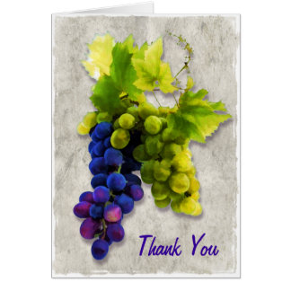 Purple and Green Grapes Thank You Card
