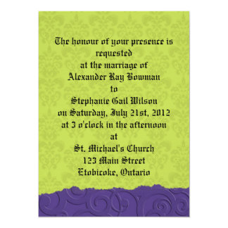 Purple and Green Invite