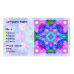 Purple and Green Kaleidoscope Fractal Business Card