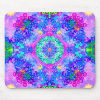 Purple and Green Kaleidoscope Fractal Mousepads