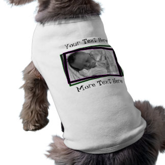 Purple and Green Neon Frame Pet Clothing