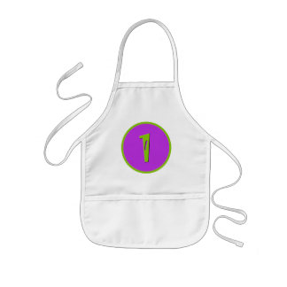 Purple and Green One Year Birthday Toddler Apron