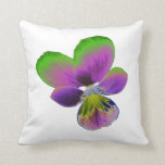 Purple and Green Pansy Pillow
