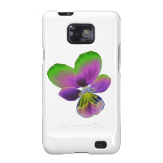 Purple and Green Pansy Samsung Galaxy S Case Galaxy S2 Cases