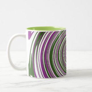 Purple and green pinwheel coffee mug