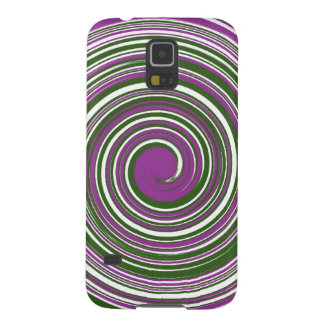 Purple and green pinwheel design case for galaxy s5