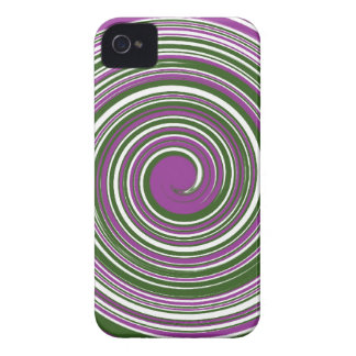 Purple and green pinwheel design Case-Mate iPhone 4 case