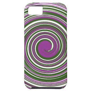 Purple and green pinwheel design iPhone SE/5/5s case