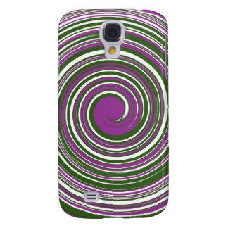 Purple and green pinwheel design samsung galaxy s4 case