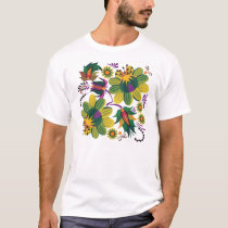 Purple and Green Plants T-Shirt
