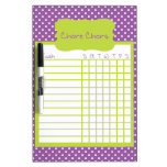 Purple and Green Polka Dot Chore Chart Dry Erase Whiteboards