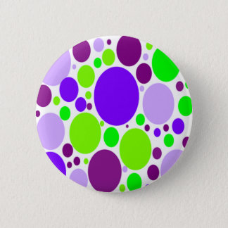 Purple And Green Polka Dots Button