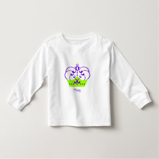 Purple and Green Princess Crown Toddler T-shirt