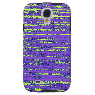 Purple and green rips galaxy s4 case