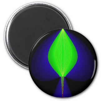 Purple and green spade magnet