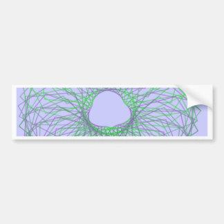Purple and green spirograph bumper sticker
