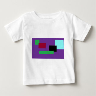 Purple and Green Squares Baby T-Shirt