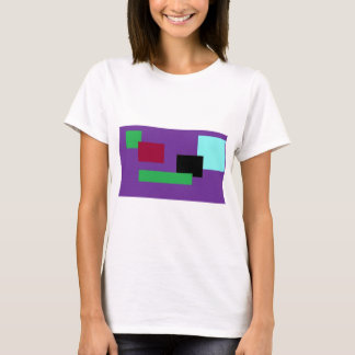 Purple and Green Squares T-Shirt