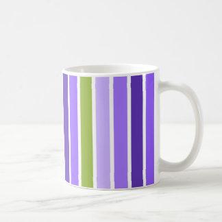 Purple and Green Stripes Mug