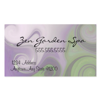 Purple and Green Swirls-Indestructible Double-Sided Standard Business Cards (Pack Of 100)
