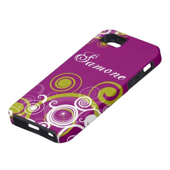 Purple and Green Swirls iPhone SE/5/5s Case