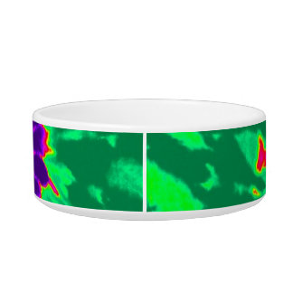 Purple and Green Tie Dye Bowl