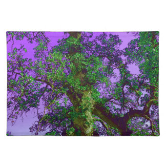 Purple and Green Tree Limb Cloth Placemat