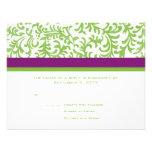 Purple and Green Wedding RSVP Custom Invitations
