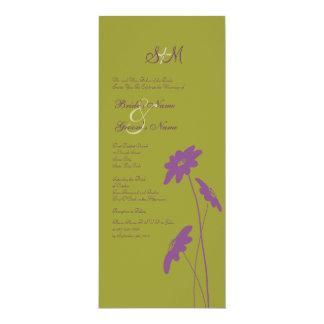 Purple and Green Wildflowers Wedding Invitation