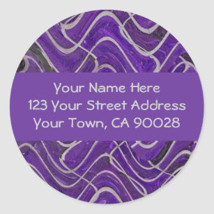 purple and grey address labels zazzle com
