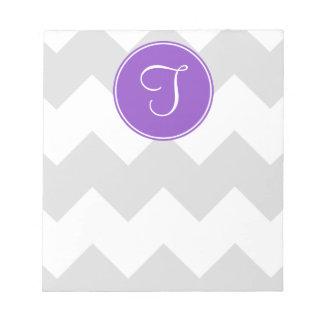 Purple and Grey Chevron Notepad