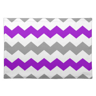 Purple and Grey Chevron Placemat