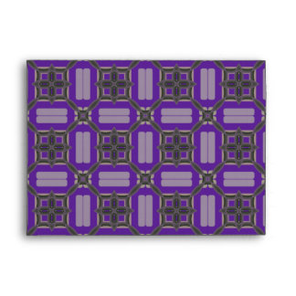 Purple and Grey Pattern Envelope