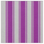 [ Thumbnail: Purple and Grey Pattern Fabric ]