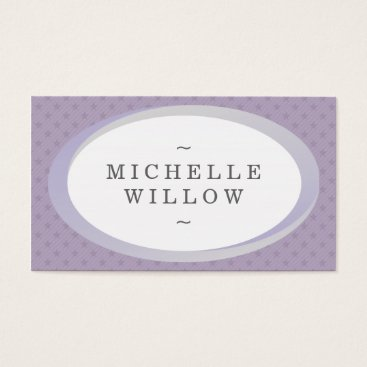 Professional Business Purple and Grey Stars Name Frame Business Card