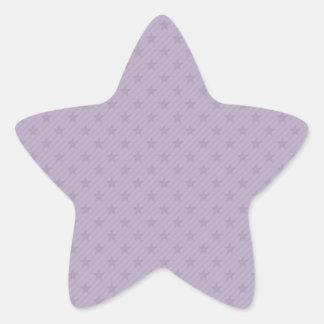 Purple and Grey Stars Stickers