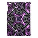 Purple and Gunmetal Gray Geometric Art Case For The iPad Mini
