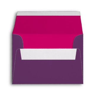 Purple and Hot Pink A2 Return Address Envelope