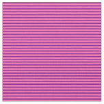 [ Thumbnail: Purple and Hot Pink Colored Stripes Fabric ]