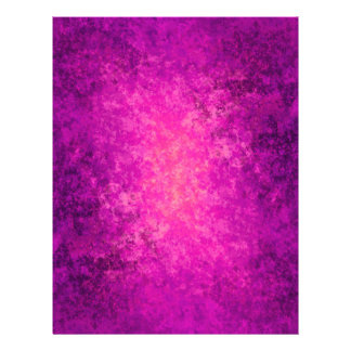 Purple and hot pink grungy punk letterhead