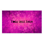 Purple and hot pink grungy punk standard size Double-Sided standard business cards (Pack of 100)
