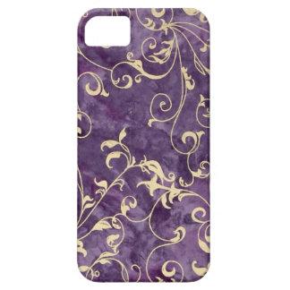 Purple and Ivory Swirl iPhone SE/5/5s Case