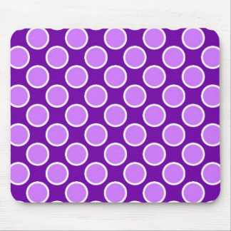Purple and Lavender Dots Mouse Pad
