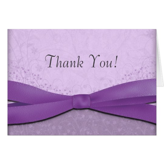 Purple and Lavender Floral Wedding Thank You Cards