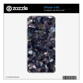 Purple and Lavender Paint Splatter  9163 Decal For The iPhone 4S