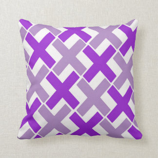 Purple and Lavender Xs Throw Pillow