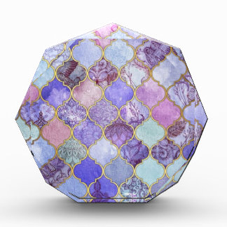 Purple and Light Blue Moroccan Tile Pattern Award